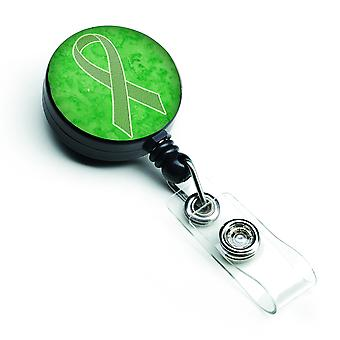 Lime Green Ribbon for Lymphoma Cancer Awareness Retractable Badge Reel