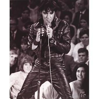 Elvis Presley - cuero cartel Poster Print