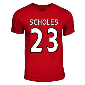 Paul Scholes Manchester United Hero camiseta (rojo)
