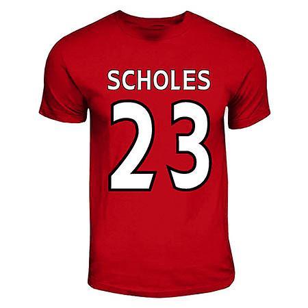 Paul Scholes Manchester United Hero camiseta (rojo)