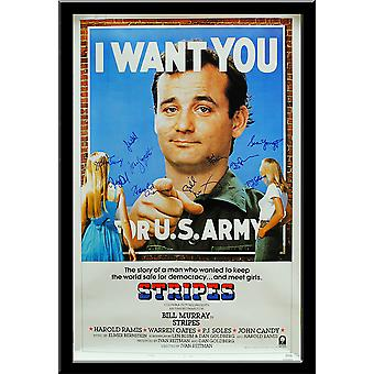 Stripes  - Signed Movie Poster