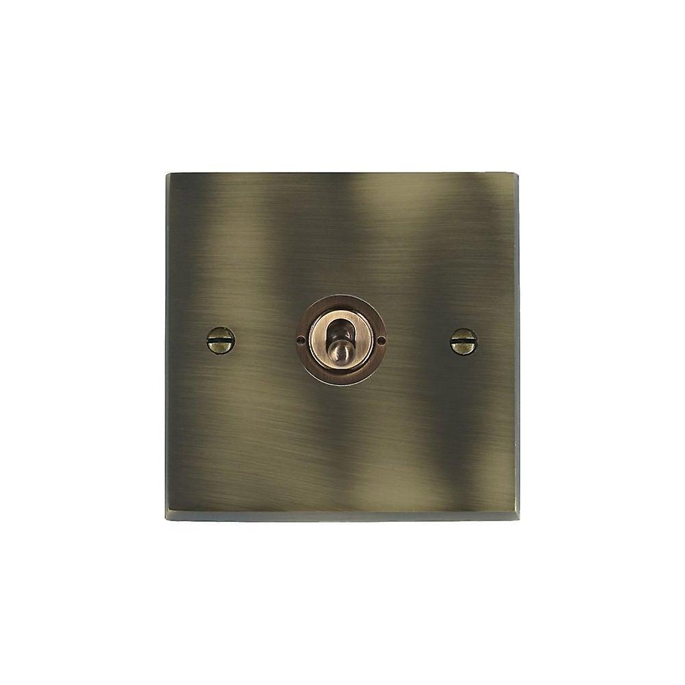 Hamilton Litestat Cheriton Victorian Antique Brass 1g 10AX PTM PTB Ret Toggle AB