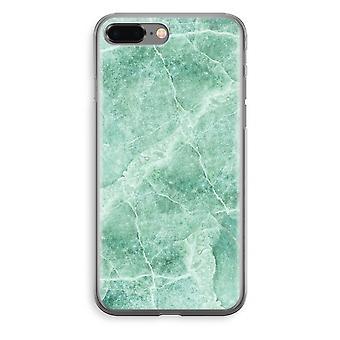 iPhone 8 Plus Transparant fall (Soft) - grön marmor