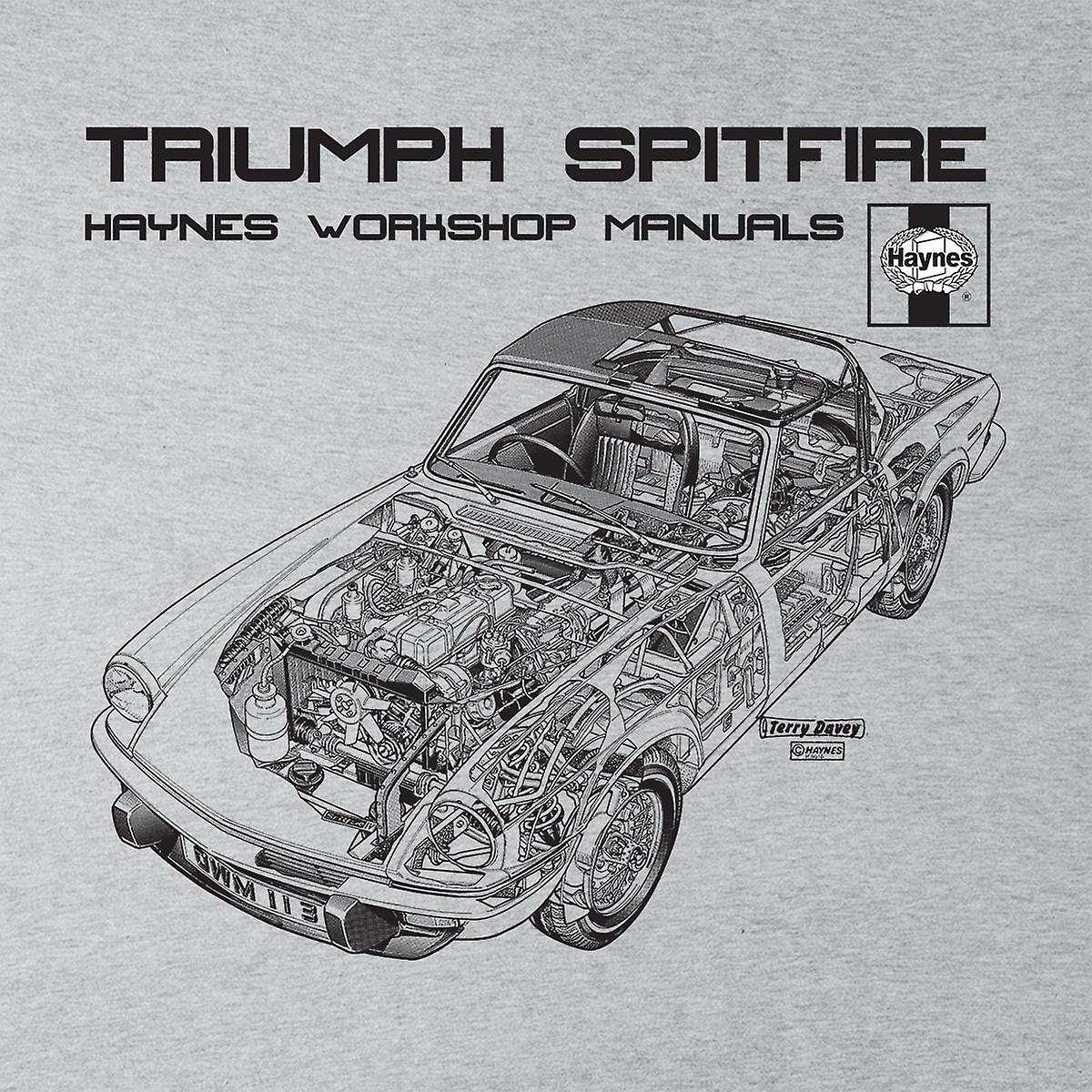 Haynes Owners Workshop Manual 0113 Triumph Spitfire Black Women's Vest