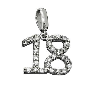 Pendant number 18 silver 925