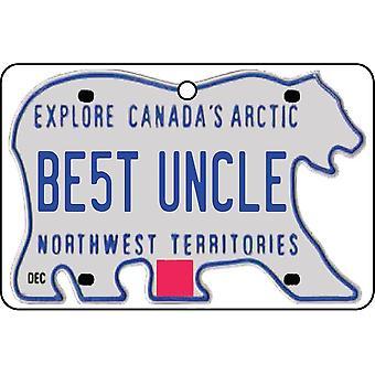 TERRITORIOS del noroeste - el mejor ambientador del coche de la placa del tío licencia