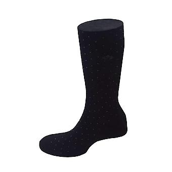 Pindot Cotton Blend Socks – Black