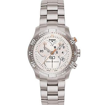 Traser H3 Ladytime silver chronograph ladies watch T7392. 25 H. G1A. 08 / 100279