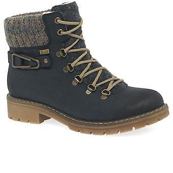 Rieker Peak Womens Casual Lace Up Walking Boots