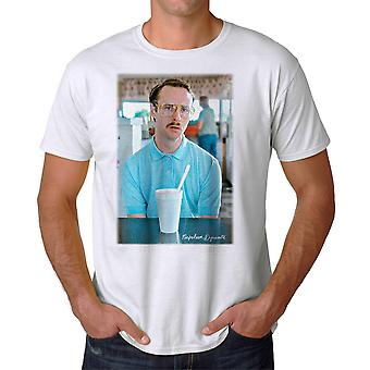 Napoleon Dynamite Getting Serious Faded Men's White Funny T-shirt