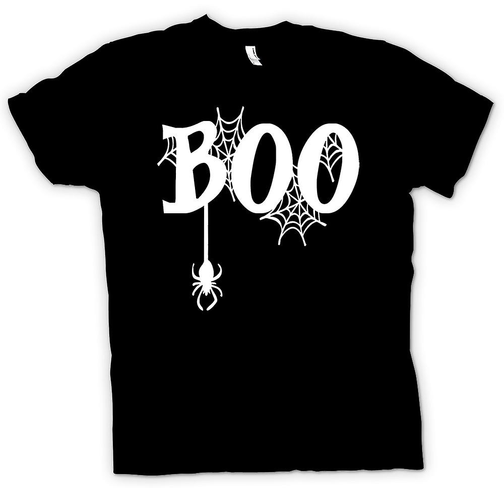Kids T-shirt - Boo - Spiders Web - Funny