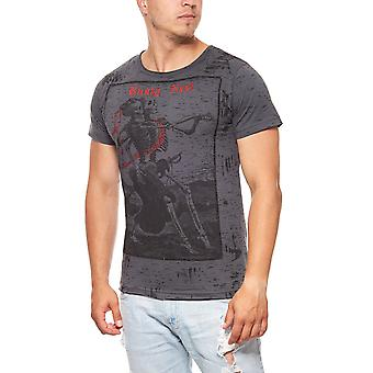 RUSTY NEAL married print mens T-Shirt grey