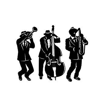 Siluetas de jazz trío