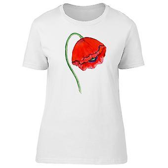 Røde Valmue blomst Tee kvinders-billede af Shutterstock