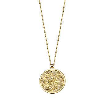 ESPRIT ladies chain stainless steel gold blocks dazzle ESNL12820B800
