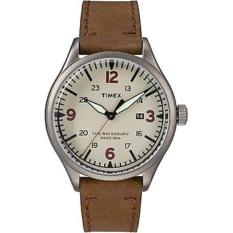 Timex mens watch Waterbury traditional 40 mm leather TW2R38600