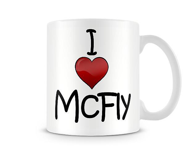 Me encanta McFly taza impresa