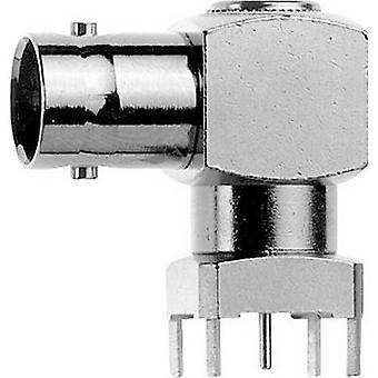 BNC connector Socket, horizontal mount 50 Ω Telegärtner J01001A0