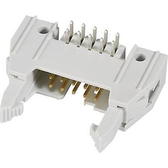 Pin connector + ejector (long), + strain relief clip Contact spacing: 2.54 mm