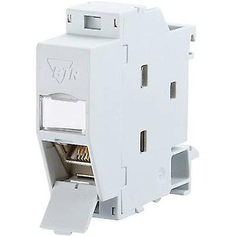 Network outlet DIN rail CAT 6A Metz Connect 1309107003-E Grey-white (RAL 7035)