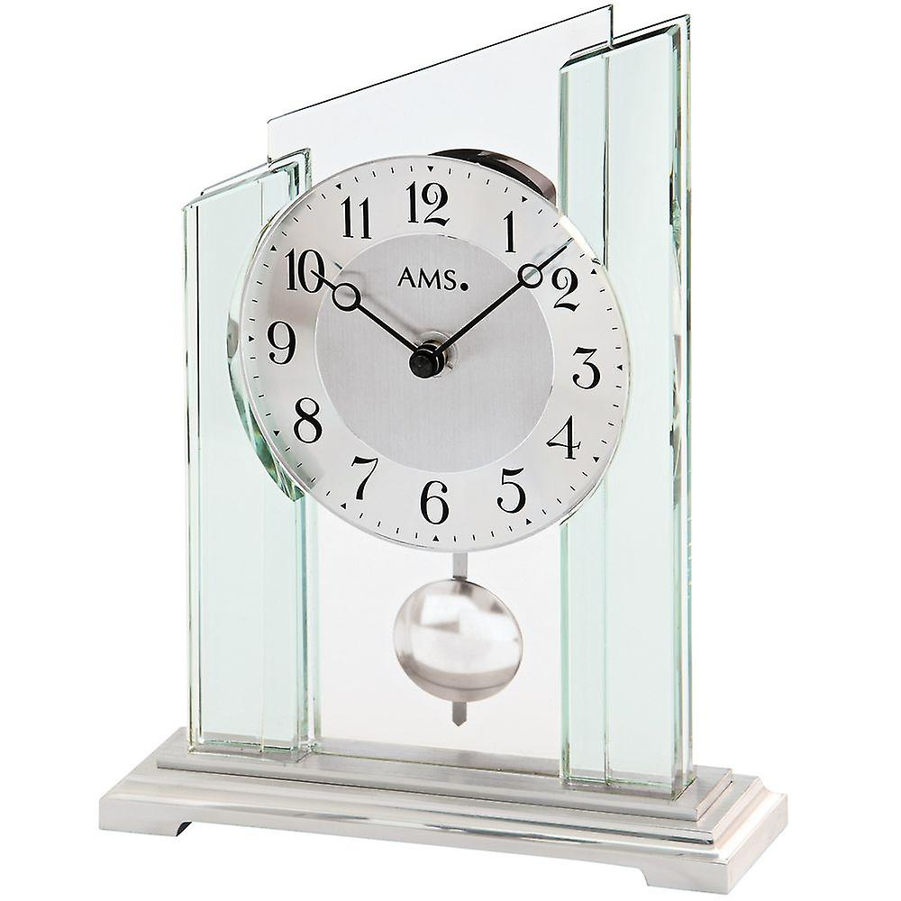 Quartz d& 039;horloge de table table horloge avec gaine de verre minéral de pendule sur base en métal