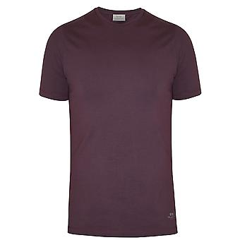 CC Collection Corneliani Corneliani Burgundy Crew Neck T-Shirt