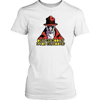 Quis Custodiet Ipsos Custodes - kto zegarki Watchmen - spisek Panie T Shirt