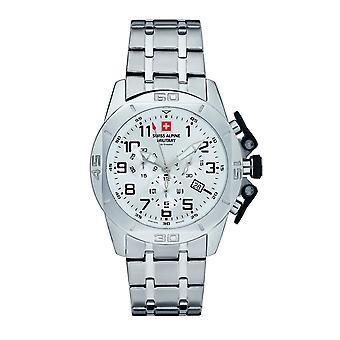 Swiss Alpine Military Herren Uhr Chrono 7063.9133SAM Edelstahl