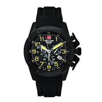 Swiss Alpine Military Herren Uhr Chrono 7063.9874SAM Silikon