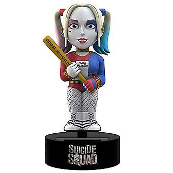 Suicide Squad Bodyknocker Harley Quinn bunt, aus Kunststoff, solarbetrieben, in Geschenkkarton.