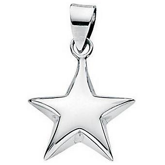 Beginnings Small Puffed Star Pendant - Silver