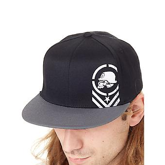 Metal Mulisha Black HO17 Descend Flat Peak Flexfit Cap