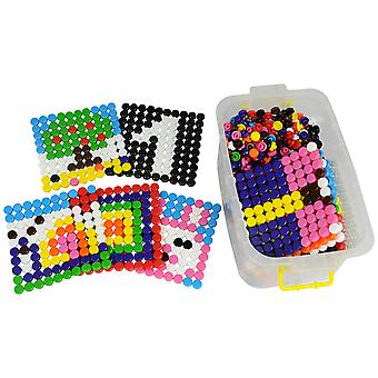 Bigjigs Toys Educational Mosaic Picture Shape Set Pegs Creative Sorting