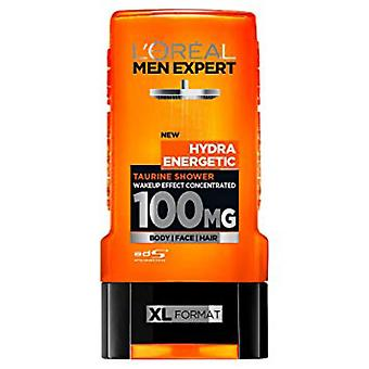 L ' Oreal 3 In 1 Men Expert Hydra energetische 100Mg Taurin Wake Up Effekt, 300 ml