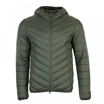EA7 Mens Down Quilted Jacket (Forest)