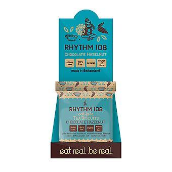 Rhythmus 108 Gluten freie vegane Schokolade Haselnuss Teegebäck