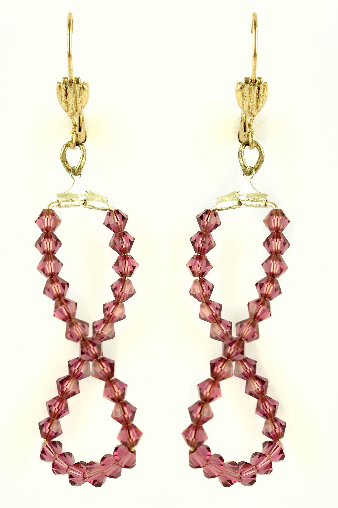Waooh - Jewelry fancy - WJ0817 - earrings with Rhinestone Swarovski Rose-shaped 8 - mount colour silver