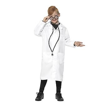 医者・科学者の衣装、ユニセックス、少年の空想のドレス、ミディアム年齢 7-9