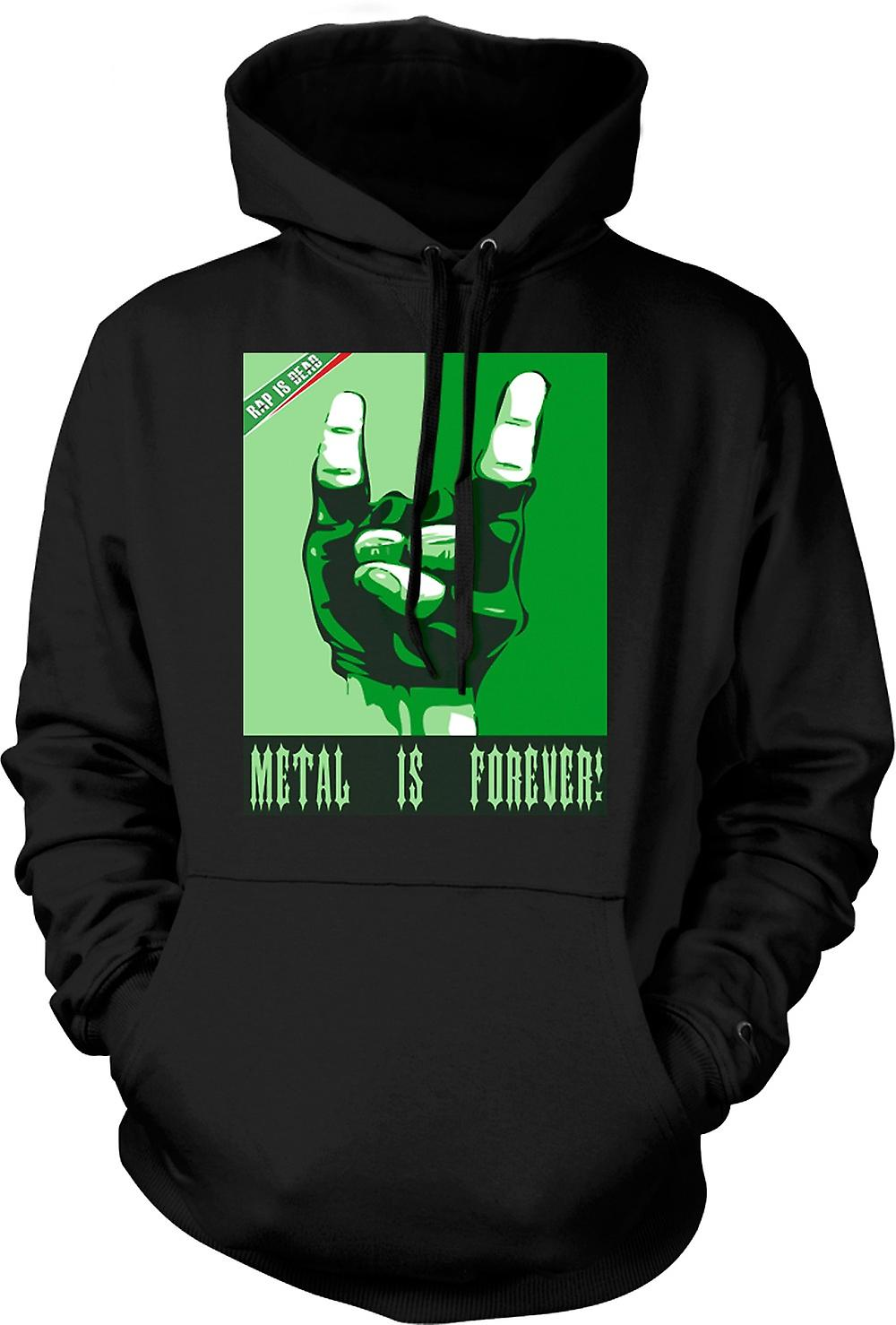 Mens Hoodie - Rap ist tot Metall ist Forever