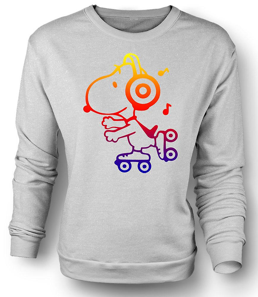Mens Sweatshirt Snoopy On Roller Skates