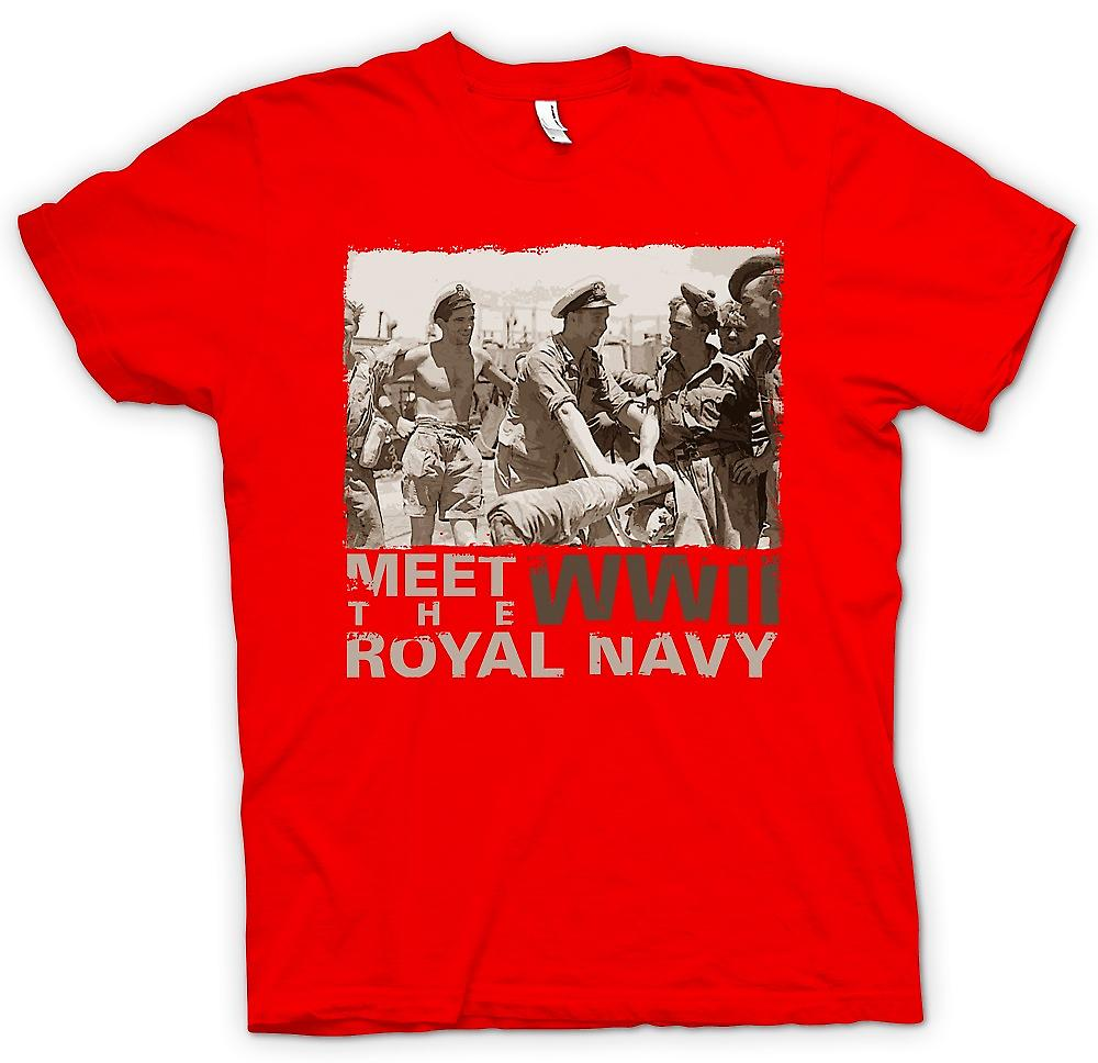 Herr T-shirt - Möt den Royal Navy WW2