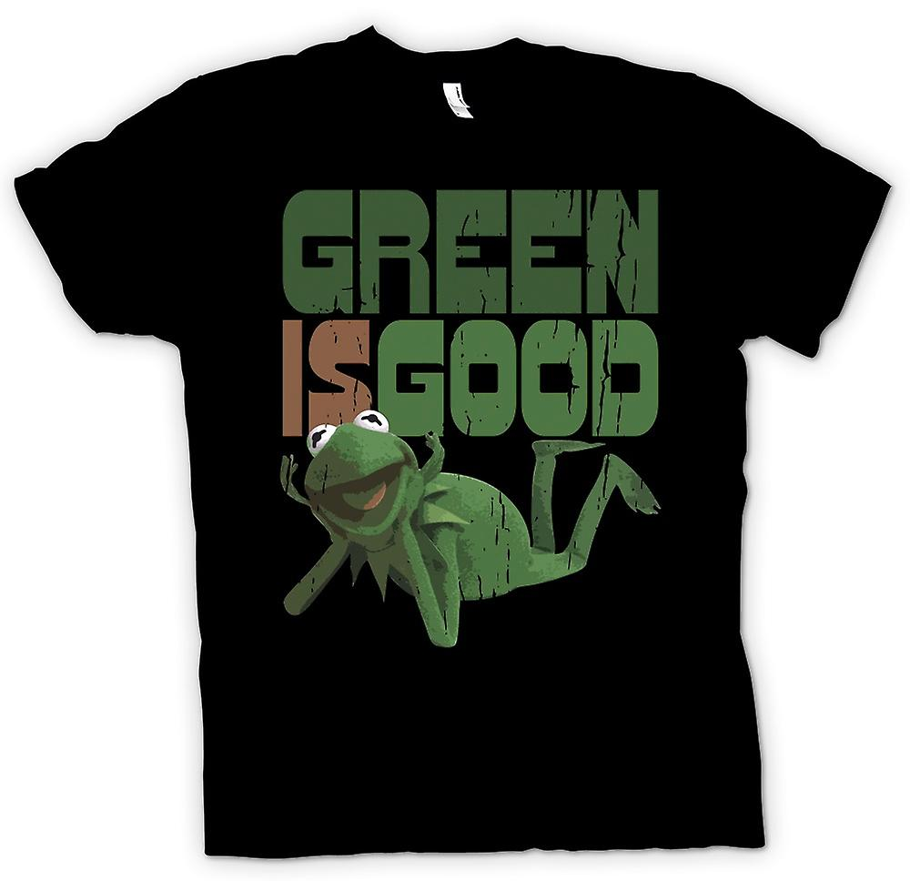 Womens T-shirt-Green Is Good - Kermit - Muppet toont geïnspireerd