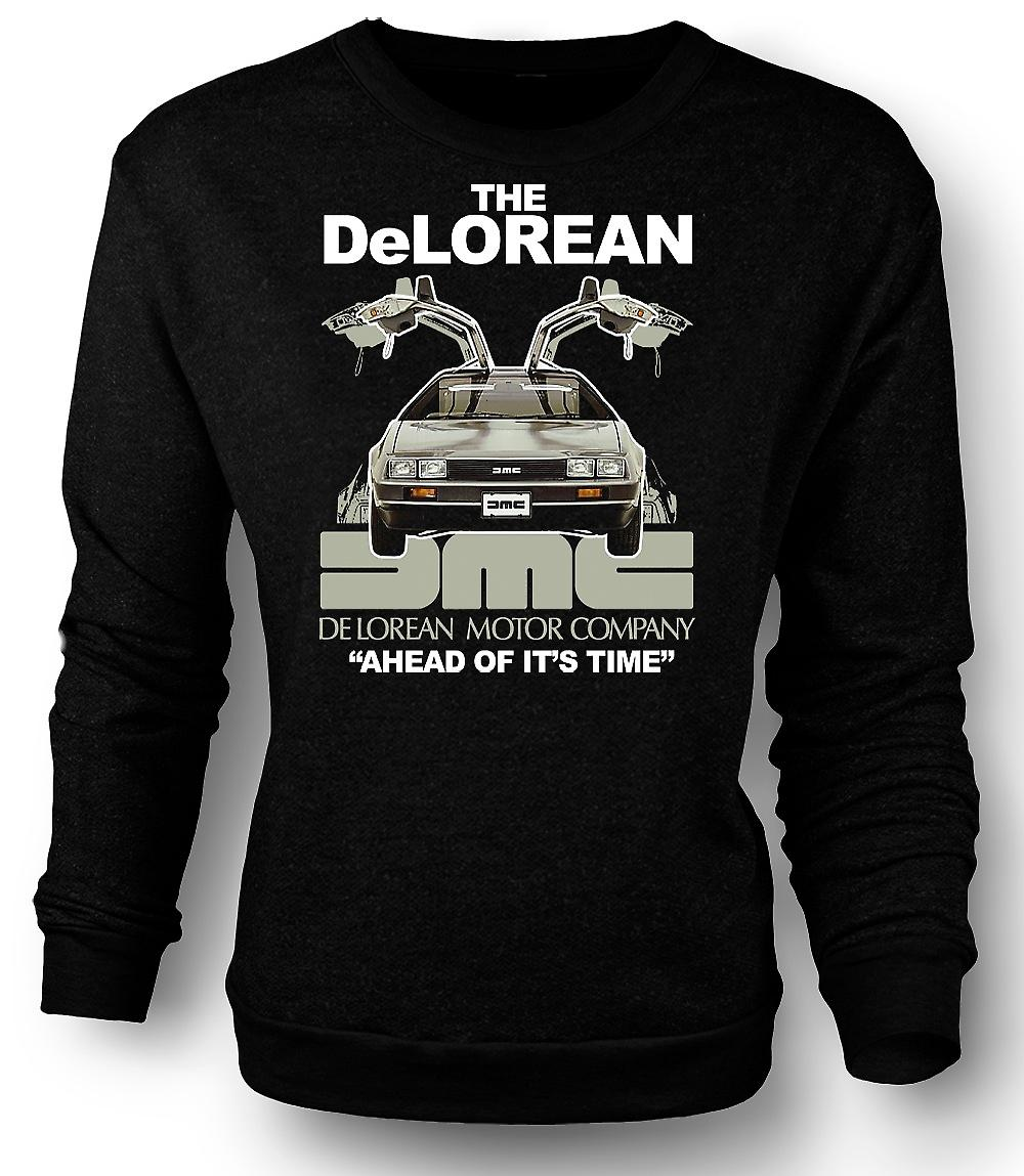 Mens Sweatshirt DeLorean - avance sur son temps