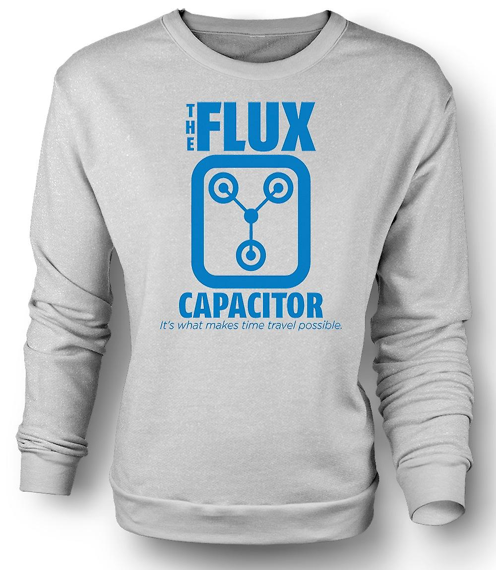 Mens Sweatshirt The Flux Capacitor - Quote