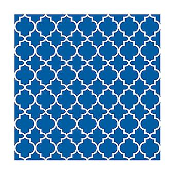Ambiente 3 Ply Paper Napkins, Ogee Blue