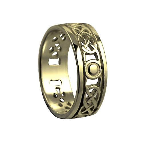 18ct Gold 6mm pierced Celtic Wedding Ring Size P