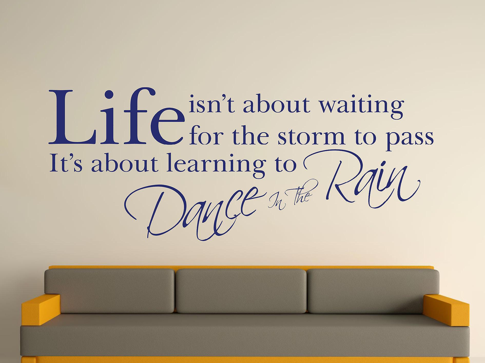 Dance In The Rain Wall Art Sticker - Ultra Blue