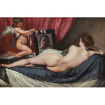 Toalettet Venus, Diego Velazquez, 40x60cm med brett
