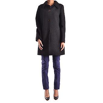 Pinko Black Polyester Coat