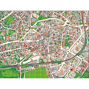 Cityscapes Street Map Of Wakefield 400 Piece Jigsaw Puzzle 470mm x 320mm (hpy)